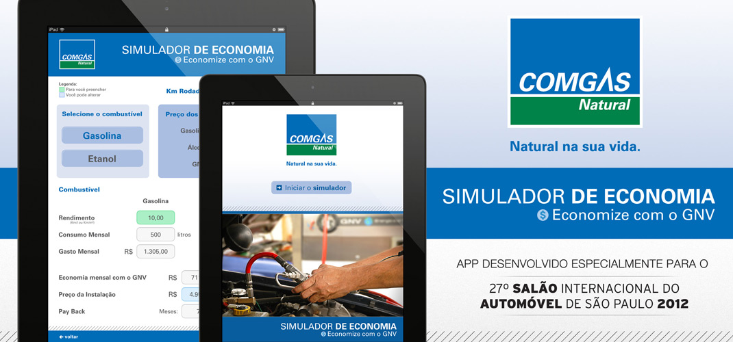 Comgas - Simulador GNV - Developed for iPad