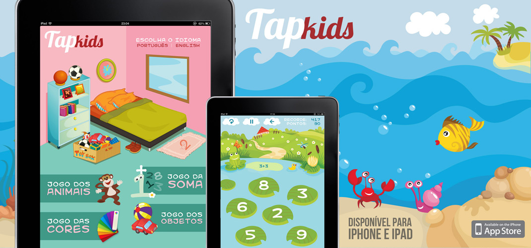 Tap Kids - Available on AppStore for AppStore for iPad, iPhone and iPod Touch
