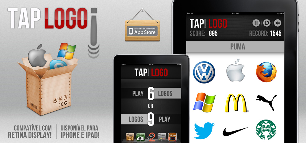 Tap Logo - Available on AppStore for iPhone and iPod Touch